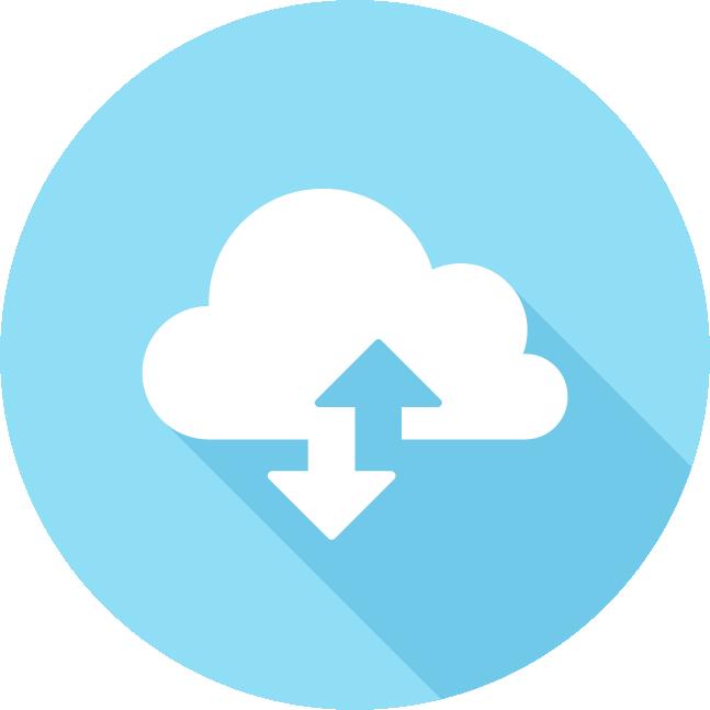 icône cloud service, partage des documents